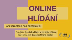 Online hlídání - O děti postaráno - když nám zavřeli klub, vytvořili jsme hlídání online!
