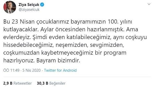 Milli_Egitim_Bakani_Ziya_Selcuk_23_Nisan_Aciklamasi