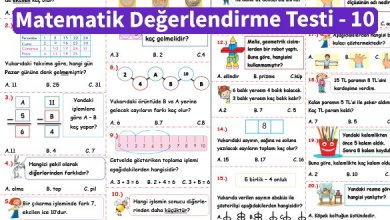Photo of İlkokul 1.Sınıf Matematik Değerlendirme Testi – 10