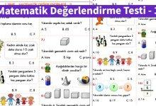 Photo of İlkokul 1.Sınıf Matematik Değerlendirme Testi – 1