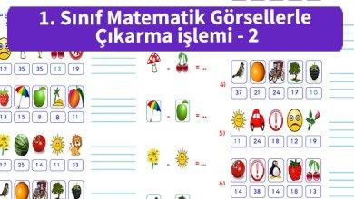 Photo of İlkokul 1.Sınıf Matematik Görsellerle Çıkarma işlemi – 2