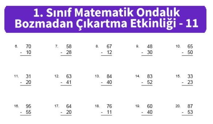 ilkokul_1_Sinif_Matematk_Ondalik_Bozmadan_Cikartma_Etkinligi_11_ornek_resim