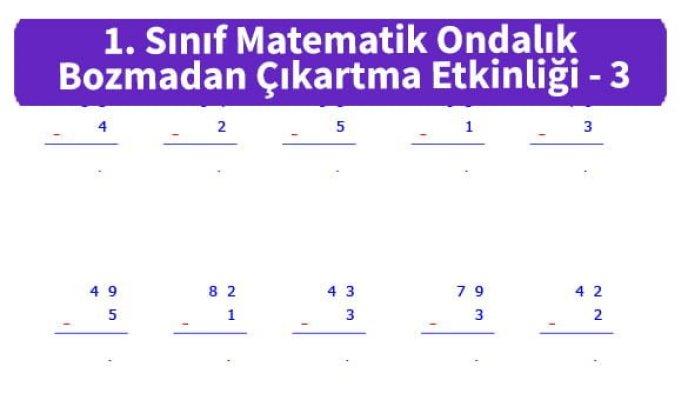 ilkokul_1_Sinif_Matematk_Ondalik_Bozmadan_Cikartma_Etkinligi_3_ornek_resim