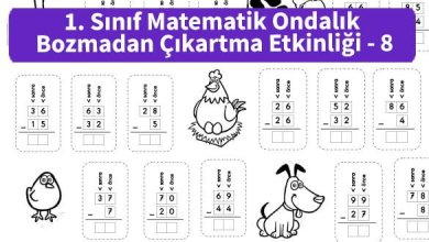Photo of İlkokul 1. Sınıf Matematik Ondalık Bozmadan Çıkartma Etkinliği – 8
