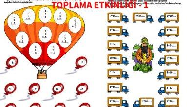 Photo of İlkokul 1.Sınıf Matematik Toplama Etkinliği – 1