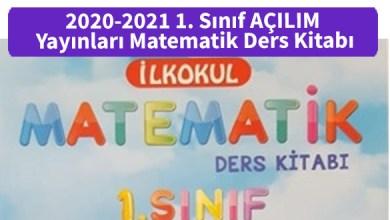 Photo of 2020-2021 1. Sınıf AÇILIM Yayınları Matematik Ders Kitabı PDF İndir