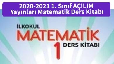 Photo of 2020-2021 1. Sınıf MEB Yayınları Matematik Ders Kitabı PDF İndir