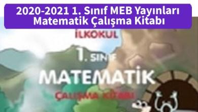 Photo of 2020-2021 1. Sınıf MEB Yayınları Matematik Çalışma Kitabı PDF İndir