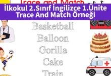 Photo of İlkokul 2.Sınıf İngilizce 1.Ünite Trace And Match Örneği – Pdf İndir