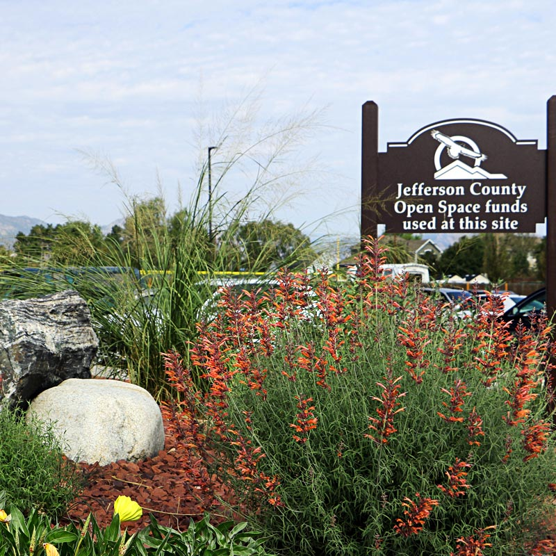 Community Heroes Park Landscape and Sign