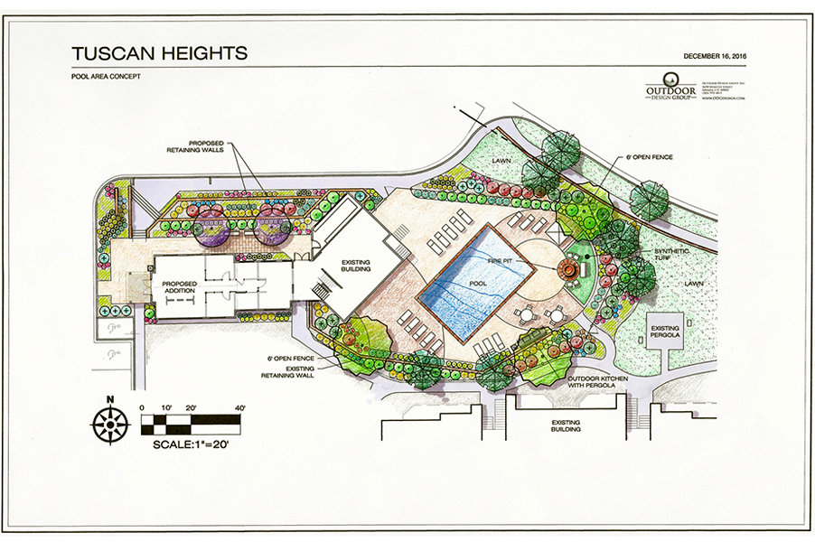 Tuscan Heights Pool Area Concept