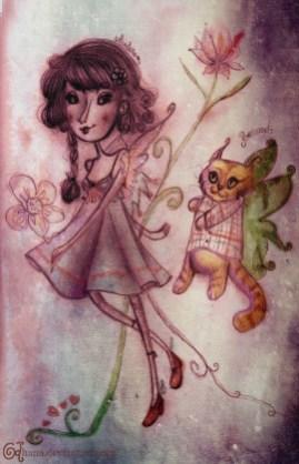 Elle et son chat