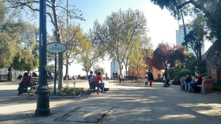 Cerro Santa Lucia em Santiago gastando pouco