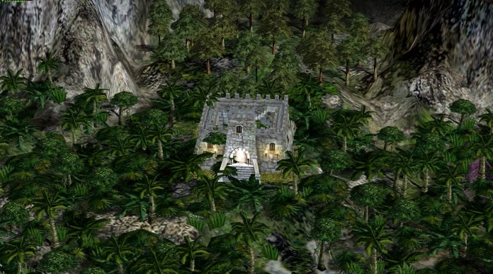 Dungeon deep within a jungle.