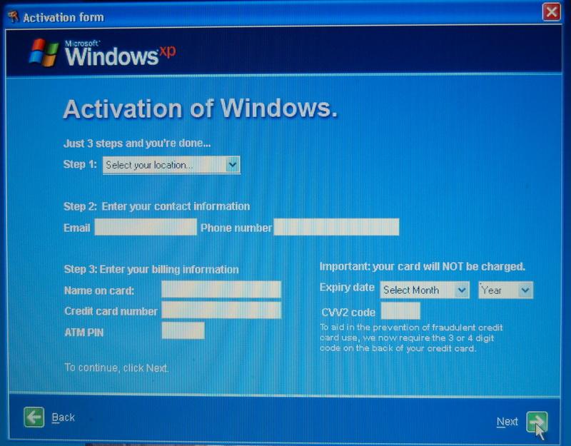 Windows Activation Virus – PHISHING ALERT