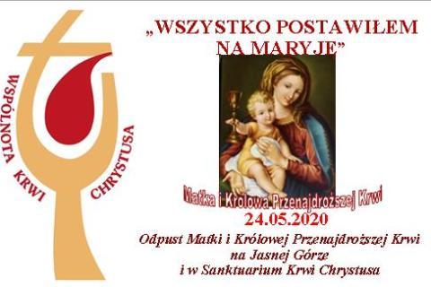 Modlitwa zawierzenia Maryi Wspólnoty Krwi Chrystusa na Jasnej Górze