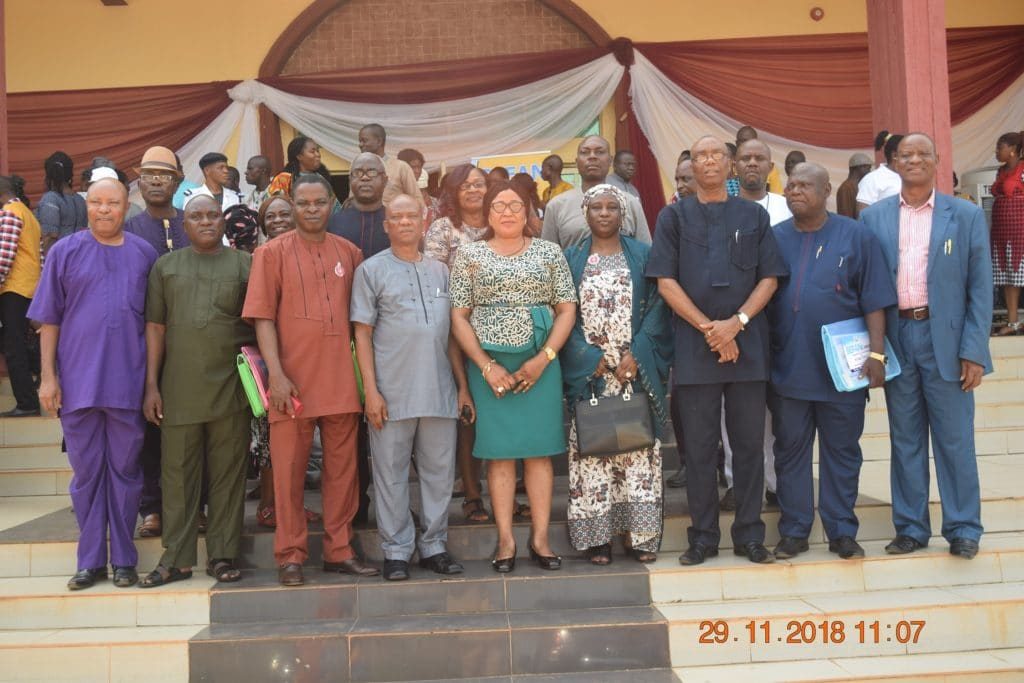 The Provost Dr Tessy Okoli 5th from left Mrs Suleiman other NCCE officials College Management and resource persons after the workshop 1024x683 - ASUU Strike -