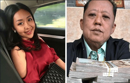 Millionaire Arnon Rodthong, 58 and daughter   Karnsita,