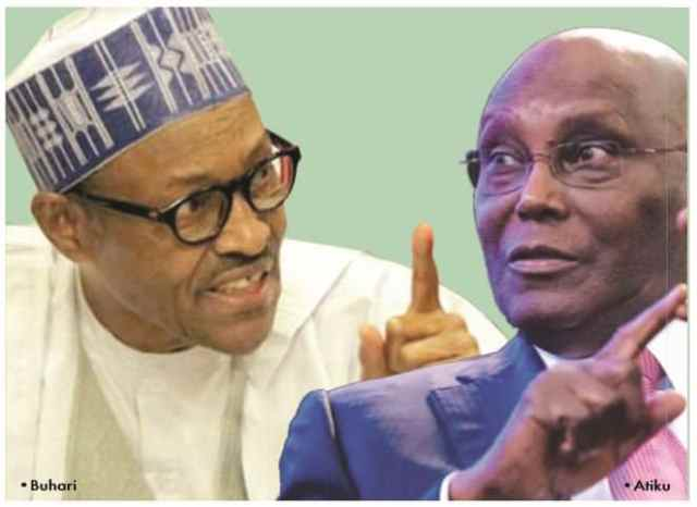 Buhari and Atiku, political contest