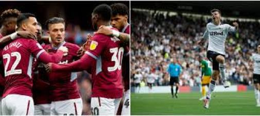 Aston Villa  are back in the Premier League after They overcame Derby County