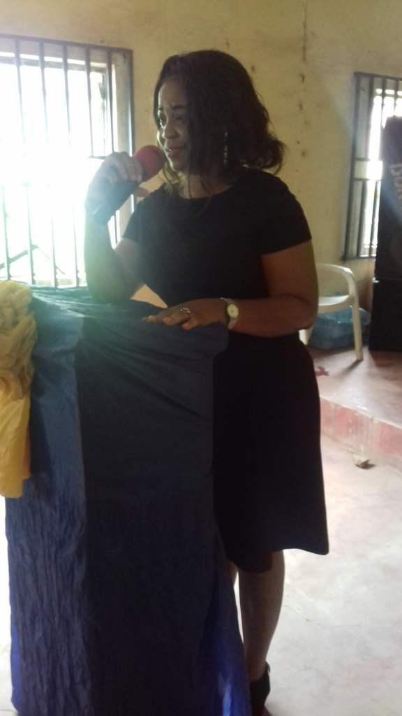 The HOD, Dr. (Mrs) Obianujunwa Mbaonu addresing the students