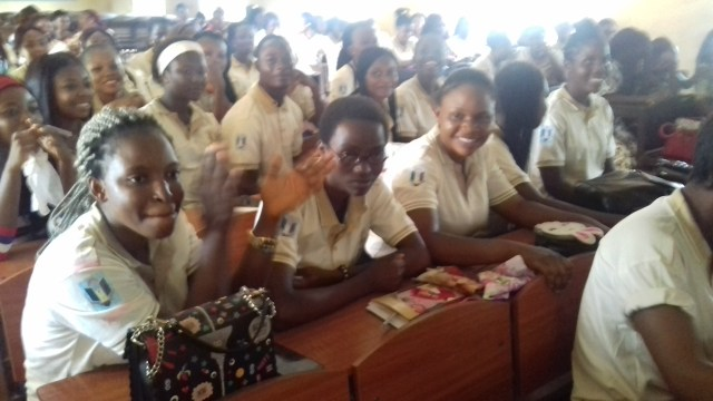 Students during the induction