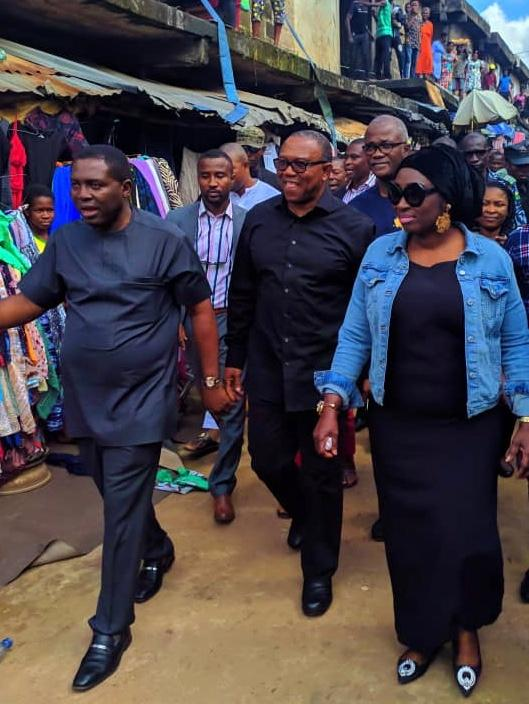 Peter Obi delegation in Onitsha market