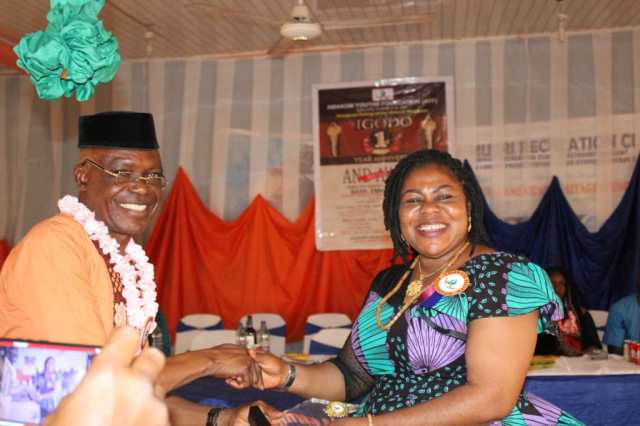 "Mrs. Ajide bagged the award of ""Omabala Education Ambassador"", from the Amakom Youth and Empowerment Foundation"