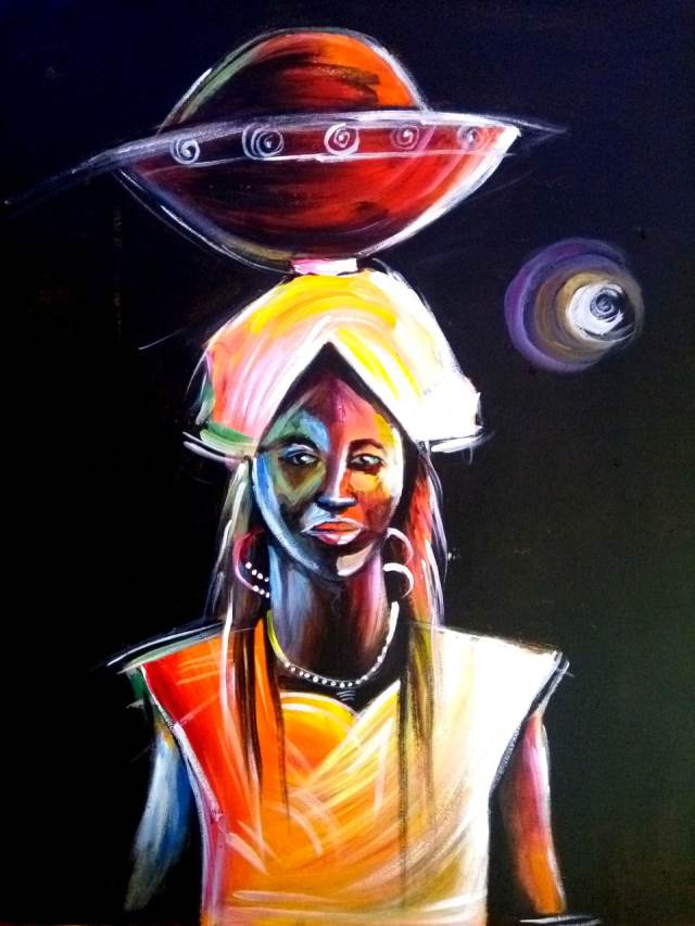 Paintings Woman with Calabash