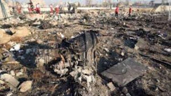 Remains of Ukrainian Boeing 737-800 (Flight PS752)