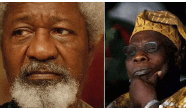 Soyinka:Obasanjo,Not My Friend But We Have Agreed On One Thing Finally.