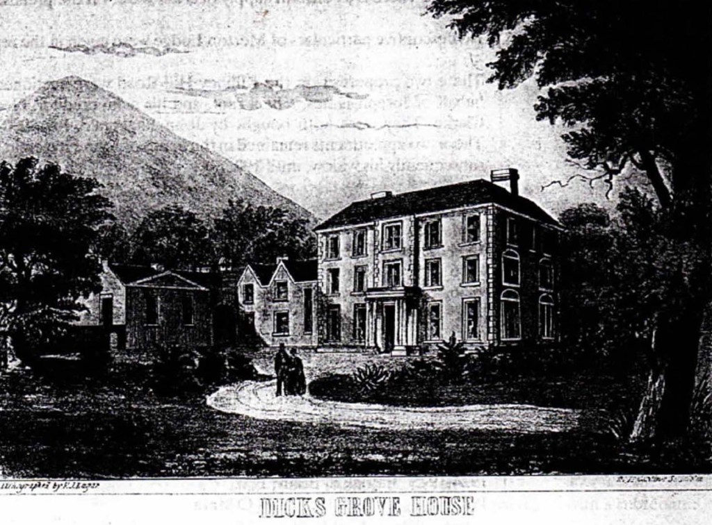 Dicksgrove House in 1855 when the property was put up for auction