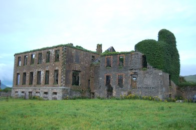 Remains of Cahersiveen Union Workhouse at Bahaghs which closed in 1923