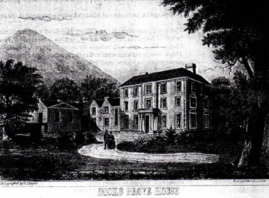 5 Dicksgrove in 1855 built on site of a small castle