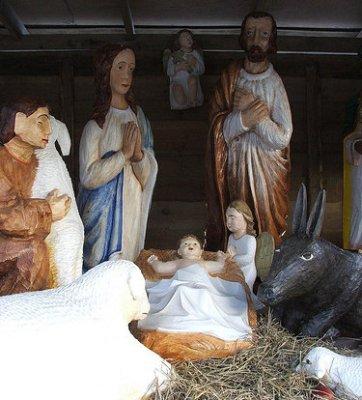 Ježíšek ve chlévě