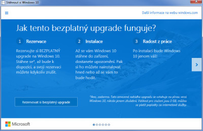Rezervace Windows 10