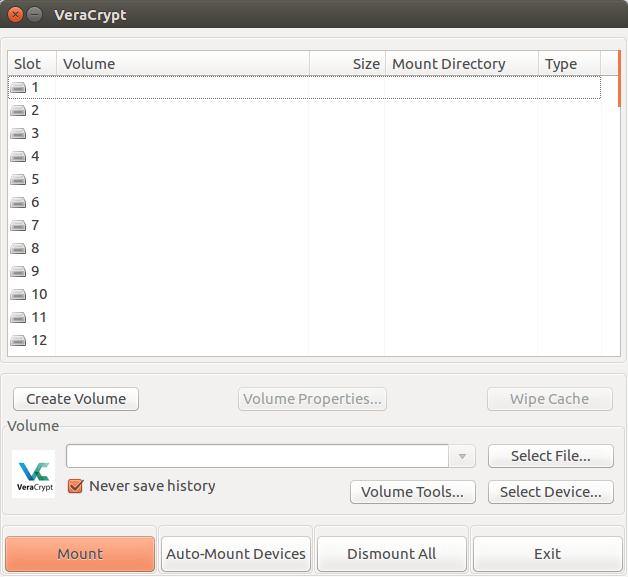 Jak v Ubuntu nainstalovat VeraCrypt