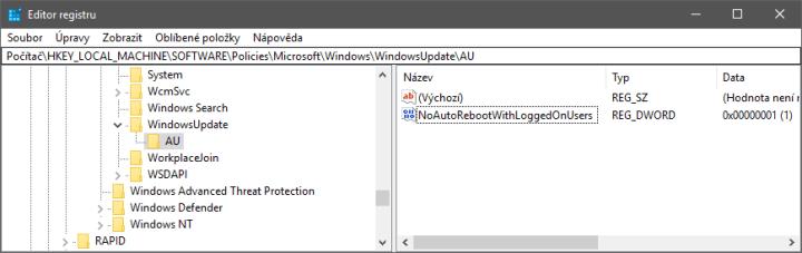 Jak zakázat vynucené restarty po aktualizaci Windows?
