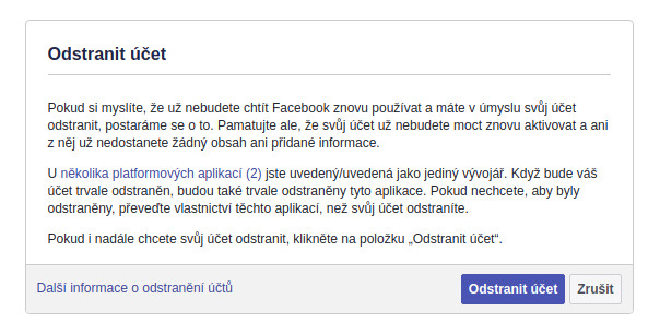 Jak smazat účet na Facebooku?