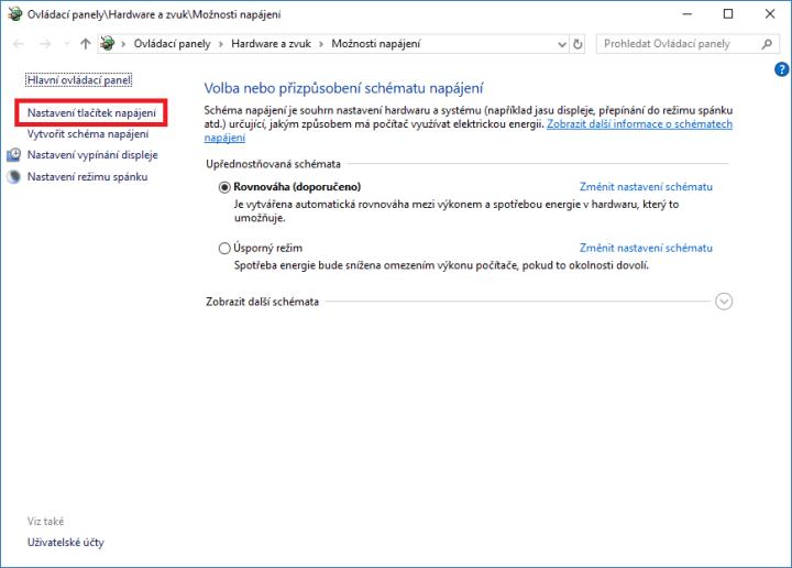 Jak korektně ukončit Windows 10?