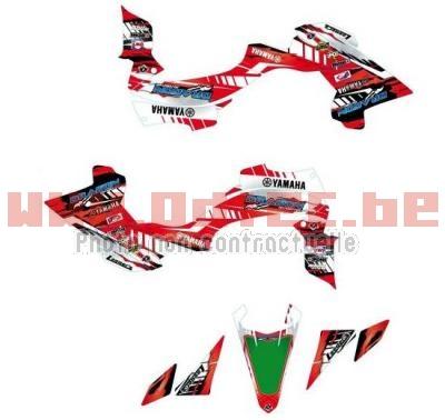 kit deco yamaha yfz 450r rouge 09 13