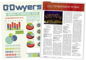 O'Dwyer's May '12 PR Firms Rankings Magazine