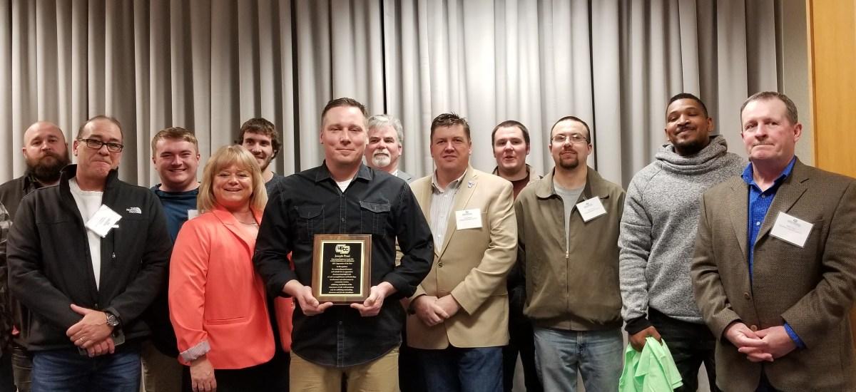 Operating Engineers 324 apprentice Joe Prusi named Apprentice of the Year
