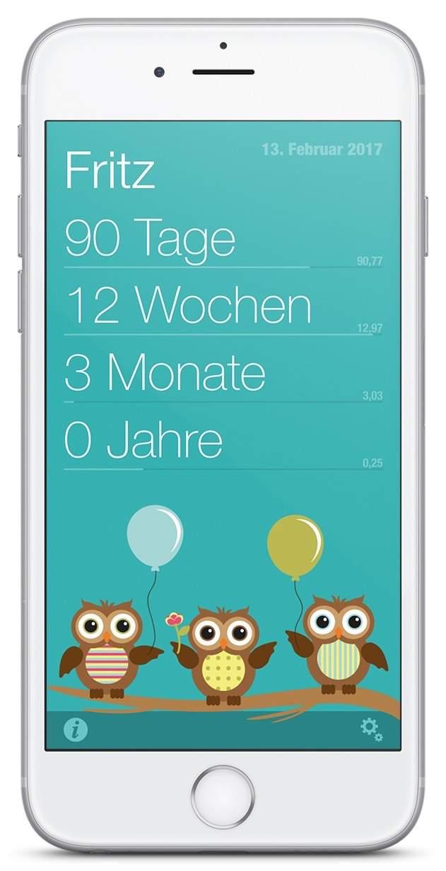 App: Baby-Wochen auf dem iPhone zeigt Dir das Alter Deines Babys an