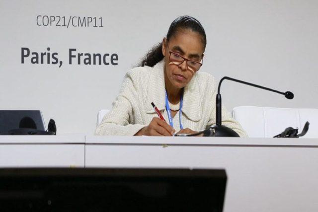 A ex-senadora Marina Silva, na COP 21. Foto: Observatório do Clima.