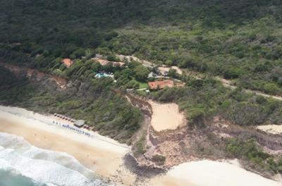 Hotel construído sem licença ambiental em borda de falésia no RN. Foto: Divulgação.