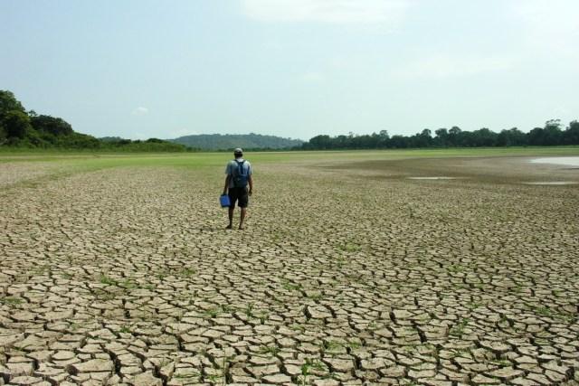Seca em Silves (AM) em 2005. Foto: Ana Cintia Gazzelli/WWF.
