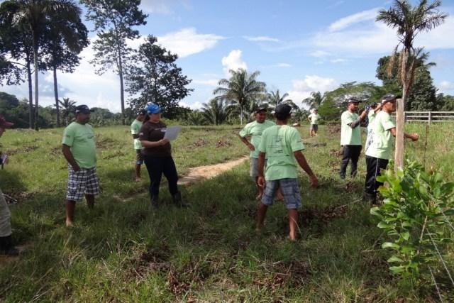 Oficina reúne produtores de gado de Amanã. Objetivo é melhorar a produtividade. Foto: Instituto Mamirauá.