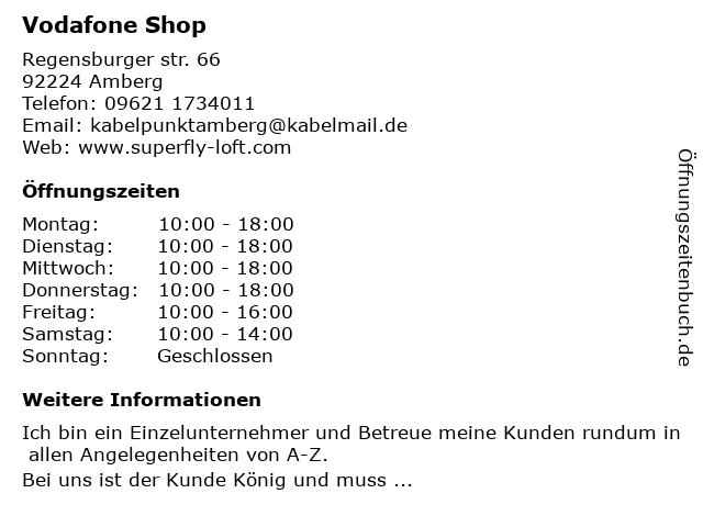 ᐅ Offnungszeiten Vodafone Shop Regensburger Str 66 In Amberg