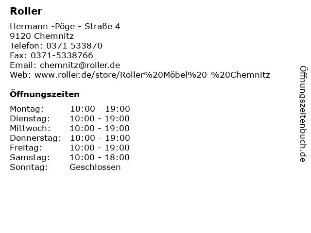 ᐅ Offnungszeiten Roller Hermann Poge Strasse 4 In Chemnitz